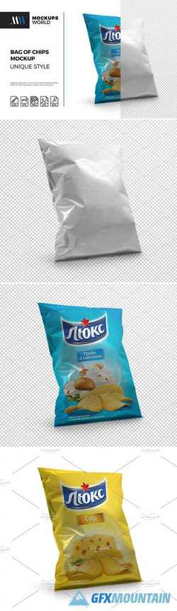 REALISTIC CHIPS BAG MOCKUP 2137565