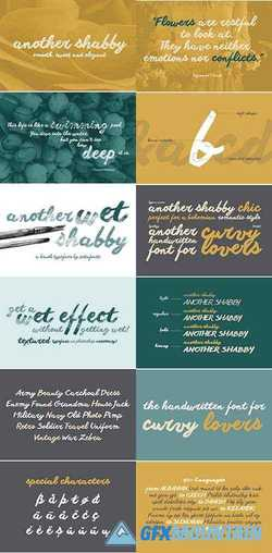 ANOTHER SHABBY SCRIPT FONTS 2137547