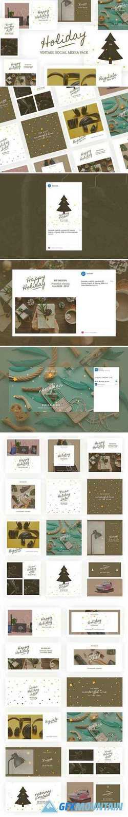 HOLIDAY VINTAGE SOCIAL MEDIA PACK 2137285