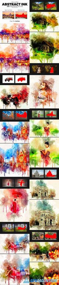 Abstract Ink Art Photoshop Action 21221110