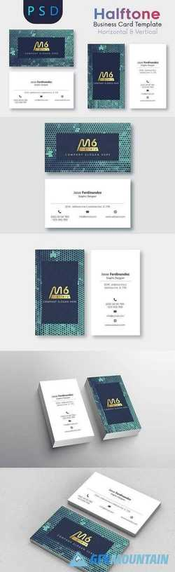 Halftone Business Card Template- S07 2196105