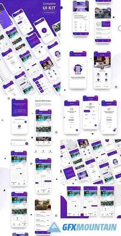 Complete UI Kit - Hotel Booking App 2219656