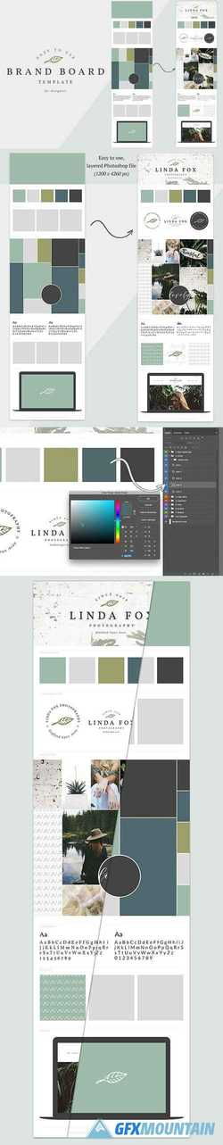 Brand Board Template // Mood Board   2221894