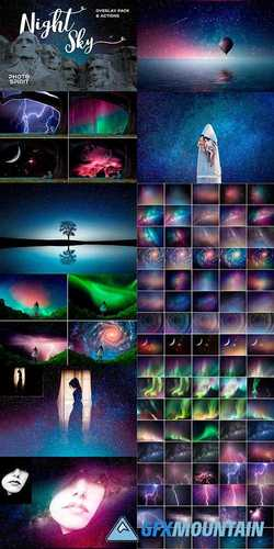 NIGHT SKY BACKGROUND OVERLAYS - 2181879