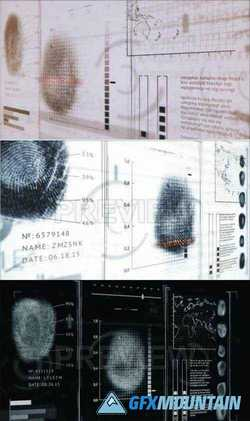 3D FINGERPRINTS INTERFACE MOTION GRAPHICS - 57049