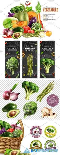 Vegetables Realistic Set 2095595