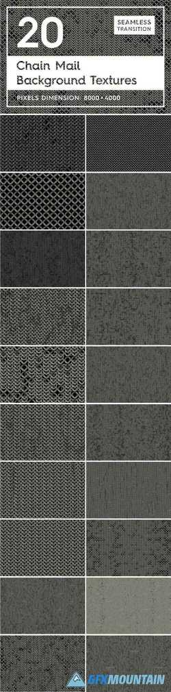 20 CHAIN MAIL BACKGROUND TEXTURES - 2164566
