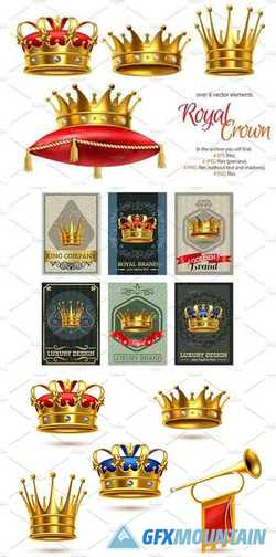 Realistic Crown Set 2227098