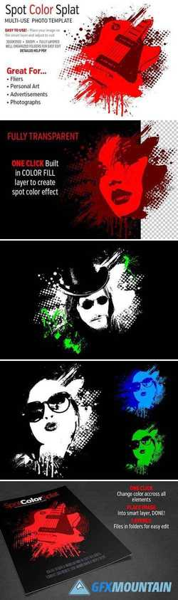 SPOT COLOR SPLAT PHOTO TEMPLATE 2228887