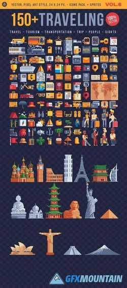 TRAVELING, 150+ ICONS. VOL.6 2184909