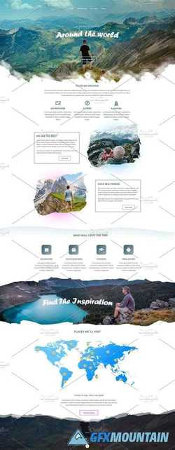 Around the World - PSD Template   2223294