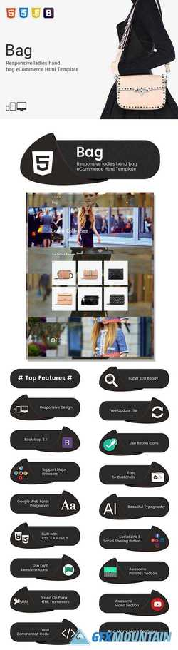 Bag - eCommerce Html Template 2115767