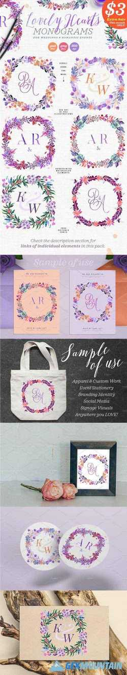 LOVELY HEARTS MONOGRAMS II - 2272002
