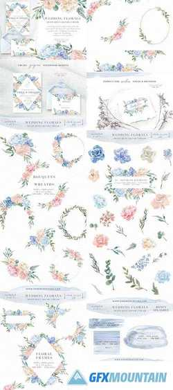 WEDDING WATERCOLOR FLOWERS GRAPHICS - 2273625