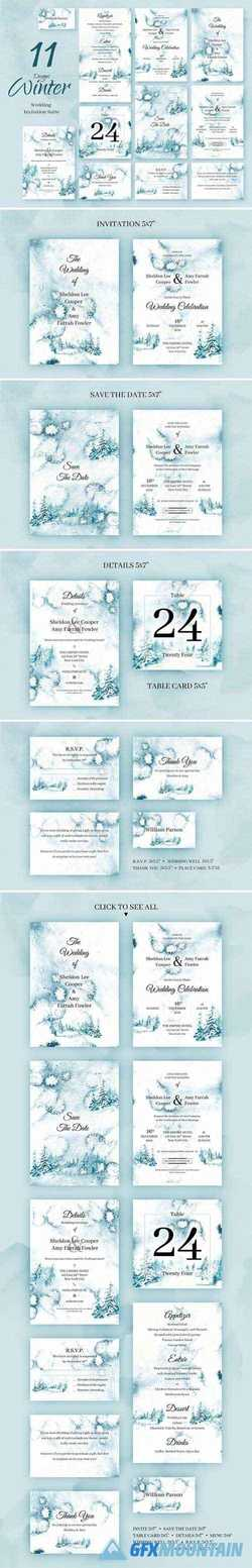 WINTER FOREST. WEDDING INVITATIONS 2229293
