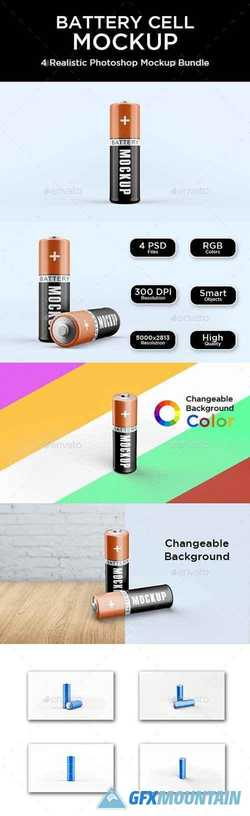 Battery Cell Mockup 21399443