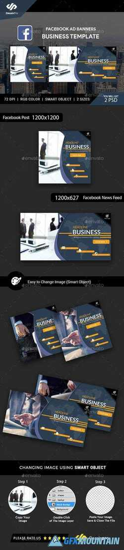 Business Service Facebook Ad Banners - AR 21402857