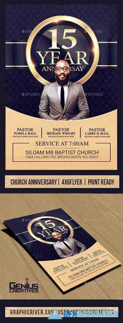 Church Anniversary Flyer Template V3 21411915