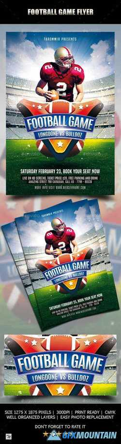 Football Game Flyer 21411777