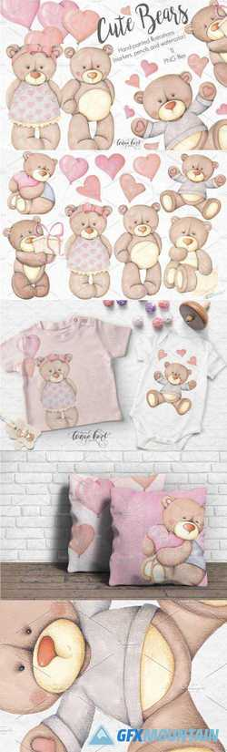 CUTE BEARS HAND PAINTED COLLECTION - 2182241