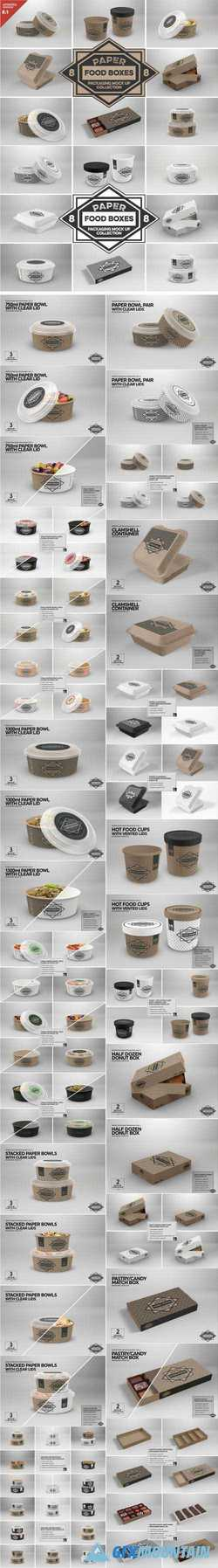 VOL.8 FOOD BOX PACKAGING MOCK UPS - 2088334