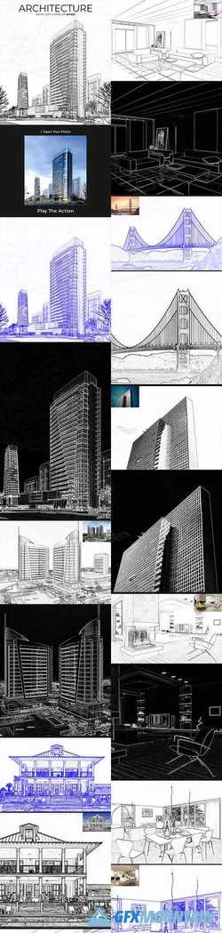 Architecture Sketch Art Photoshop Action 21403946