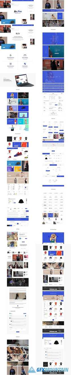 Be.pro Fashion UI Kit   1509487