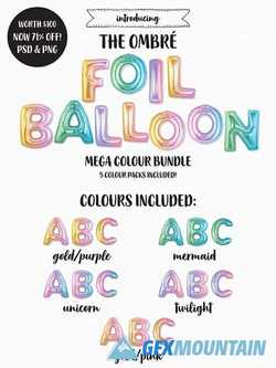The Ombre Foil Balloon Bundle 2257892