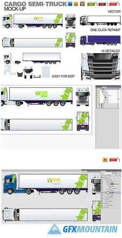 Vector truck mock-up 1540266