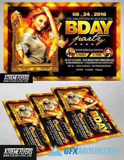 BIRTHDAY PARTY FLYER TEMPLATE 1810021