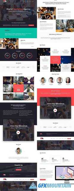 Digital Marketing Website PSD 2301094