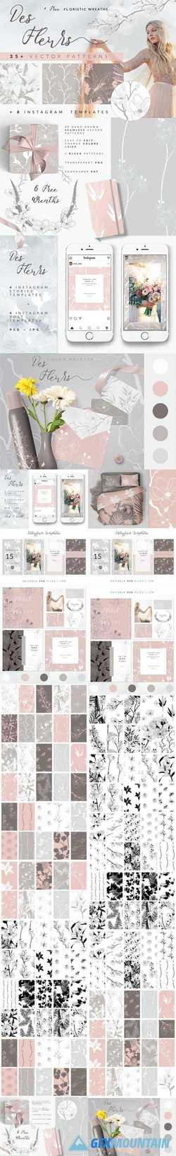35+ PATTERNS & 8 INSTAGRAM TEMPLATES - 2344548