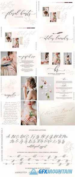 Floral Hearts-Luxury Script Font » Free Download Graphics