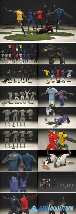 MALE MANNEQUIN NIKE FOOTBALL PACK 3D - 2319647