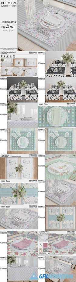 Tablecloth, Runner, Napkins & Plates 2288194