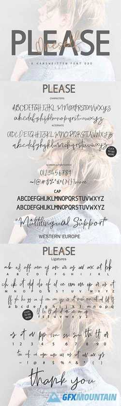 Please Oneself Font Duo