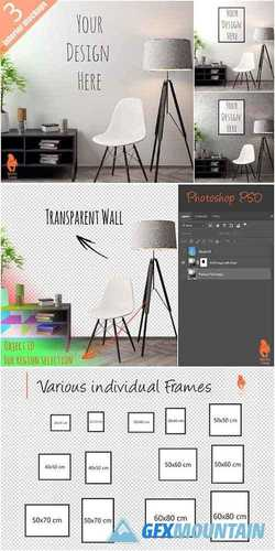 Mockup Poster with various frames 2256678