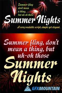Summer Nights Font