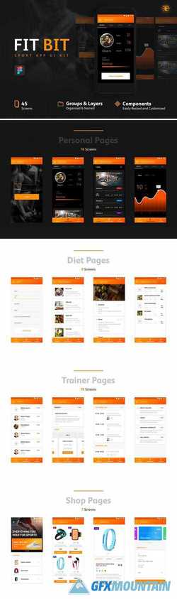 FIT BIT Sport UI Kit 2338428