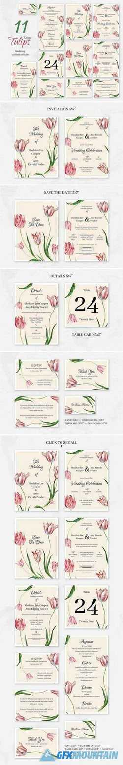 TULIPS. WEDDING INVITATION PACKAGE 2357499