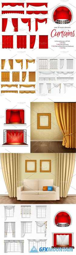 Realistic Curtains Set 2336992
