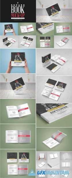 SOFTCOVER SQUARE BOOK MOCK-UP - 1569191