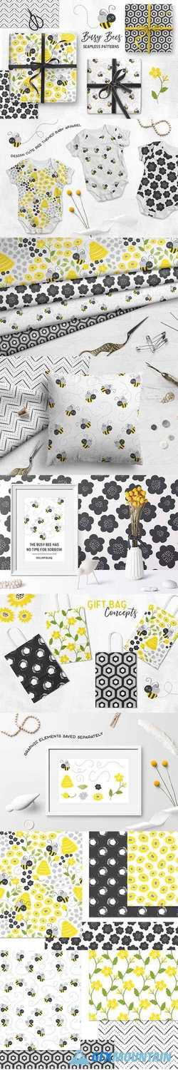 Busy Bees Baby Vector Patterns 2355971