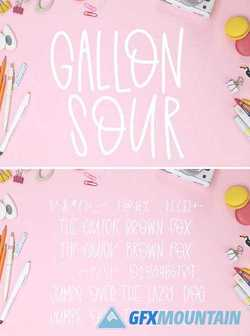 GALLON SOUR - HANDWRITTEN FONT 2357505