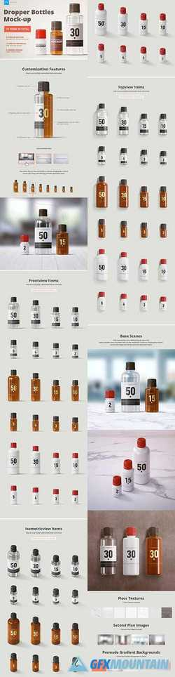 Dropper Bottles Mock-up 2350215