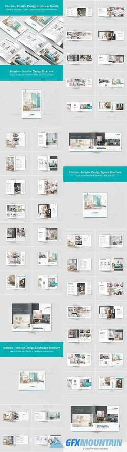Interios – Interior Design Brochures Bundle Print Templates 3 in 1 21571536