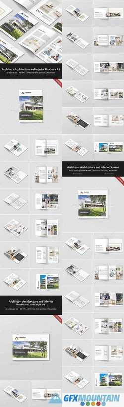 Architeo – Architecture and Interior Brochures Bundle Print Templates 3 in 1 21330851