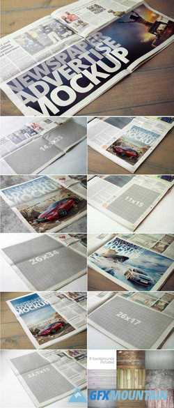 NEWSPAPER ADVERTISE MOCKUP V2 - 2144194