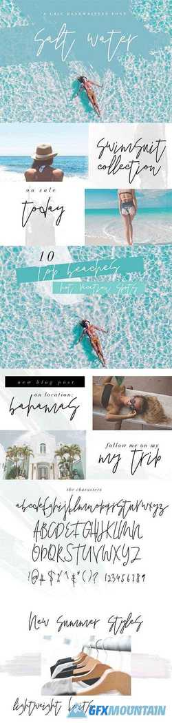 Salt Water – A Chic Handwritten Font