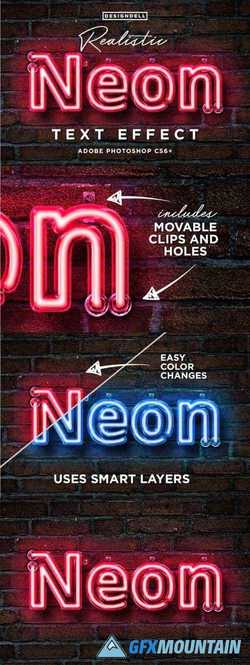 REALISTIC NEON PHOTOSHOP EFFECT - 2169989